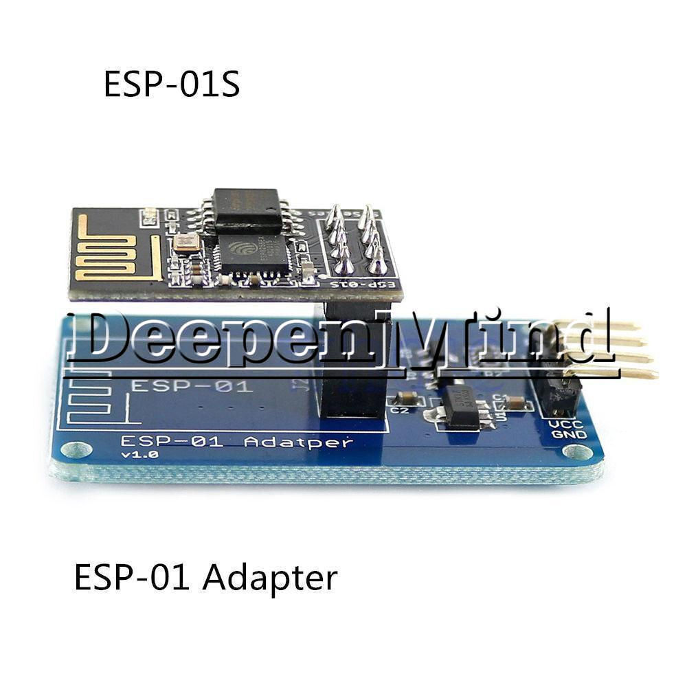 ESP8266 ESP-01 ESP-01S Wireless Transceiver Module+Breakout Breadboard Adapter