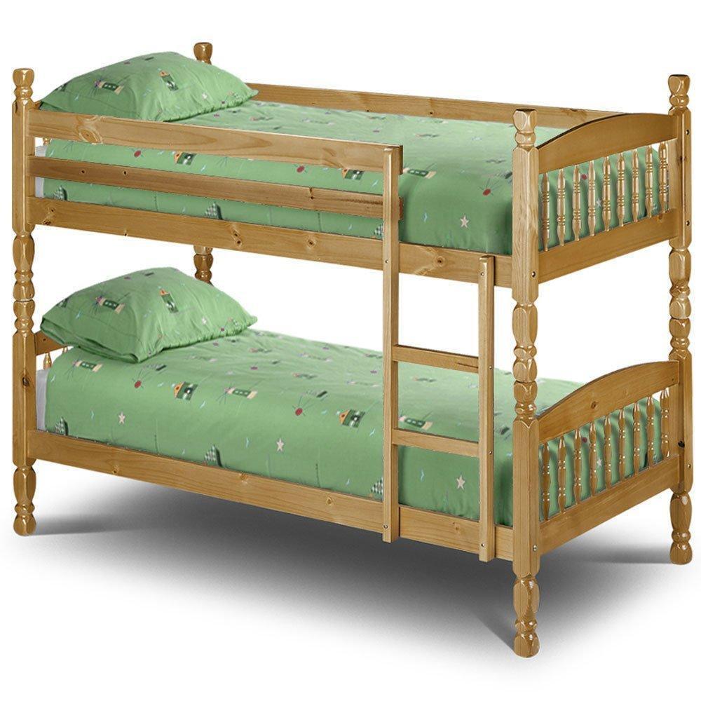Julian bowen lincoln 3ft single pine bunk beds mattresses for Gumtree bunk beds