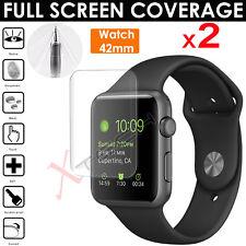2x FULL SCREEN Curve TPU Screen Protector Covers Apple Watch 42mm - Series 3