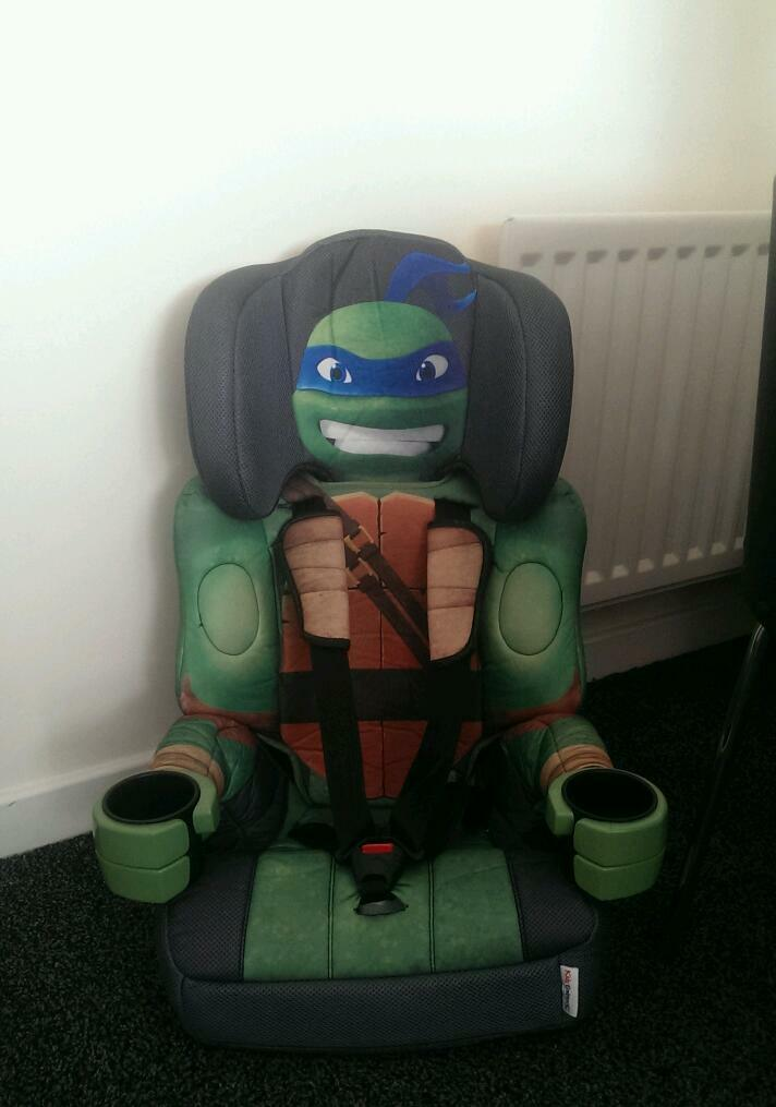 teenage ninja turtle car seat in mint condition united kingdom gumtree. Black Bedroom Furniture Sets. Home Design Ideas
