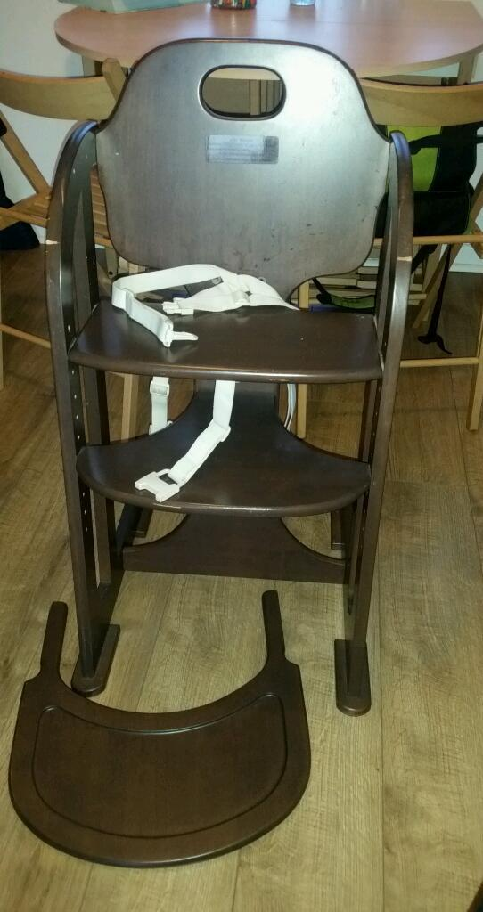 Wooden High Chair Baby Weavers Wooden High Chair With