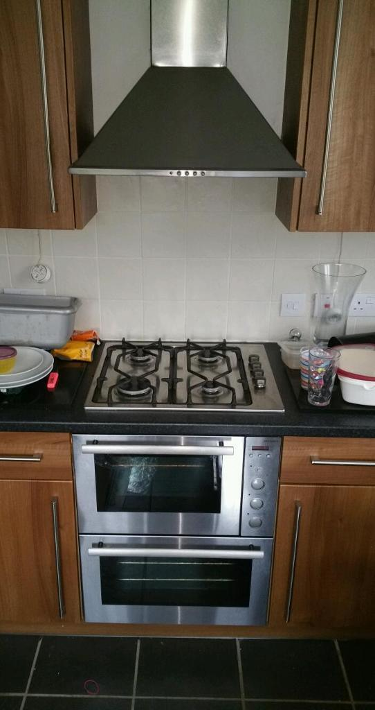 john lewis electric double oven gas hob and extractor for. Black Bedroom Furniture Sets. Home Design Ideas
