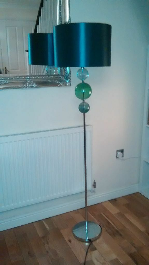 Next Teal Floor Lamp Stunning Teal Floor Lamp From Next Trio Ball Detail Gr