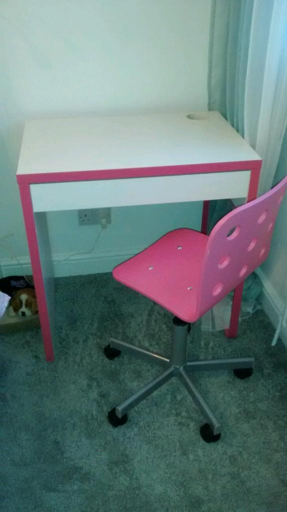 Ihram Kids For Sale Dubai: Ikea White Desk With Pink Buy, Sale And Trade Ads
