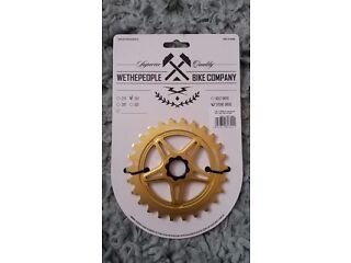 *BRAND NEW* RP£50 WeThePeople turmoil 26t spline drive sprocket Goldalloy bmx bike