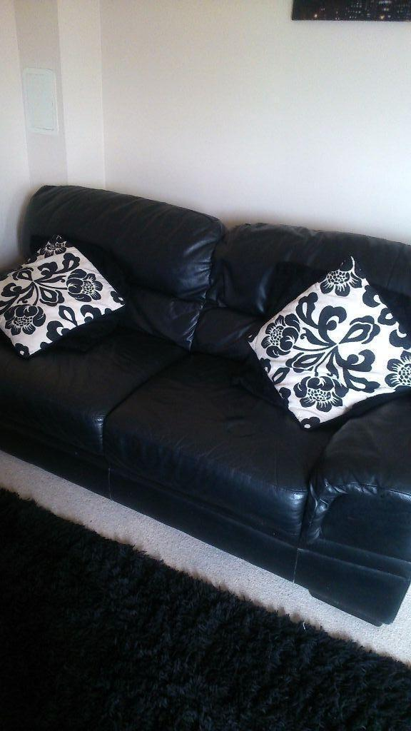 seater black leather couch - 3 seater black leather couchgood