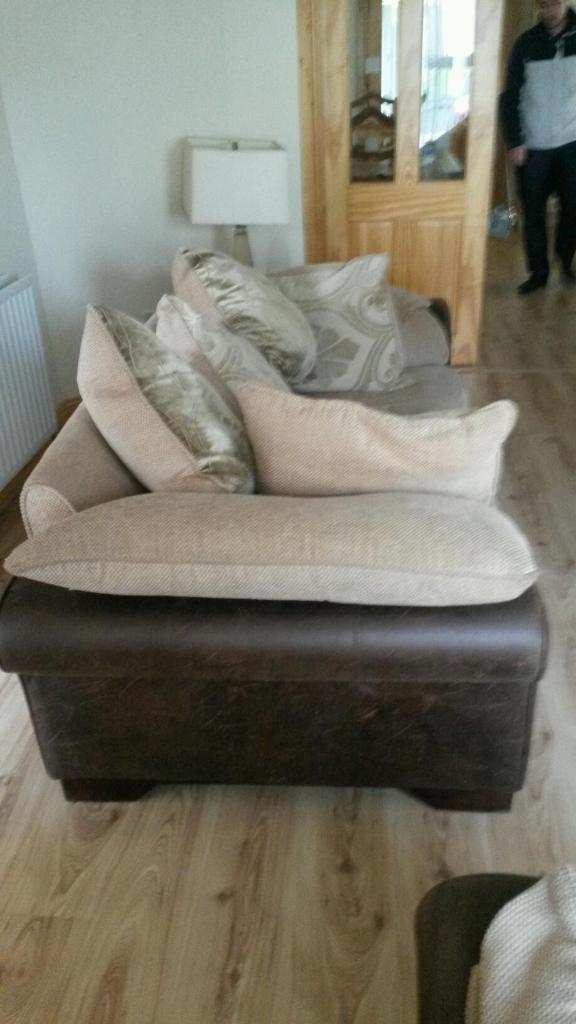 Large 2 seater plush pillow back sofa united kingdom for Large plush sectional sofa