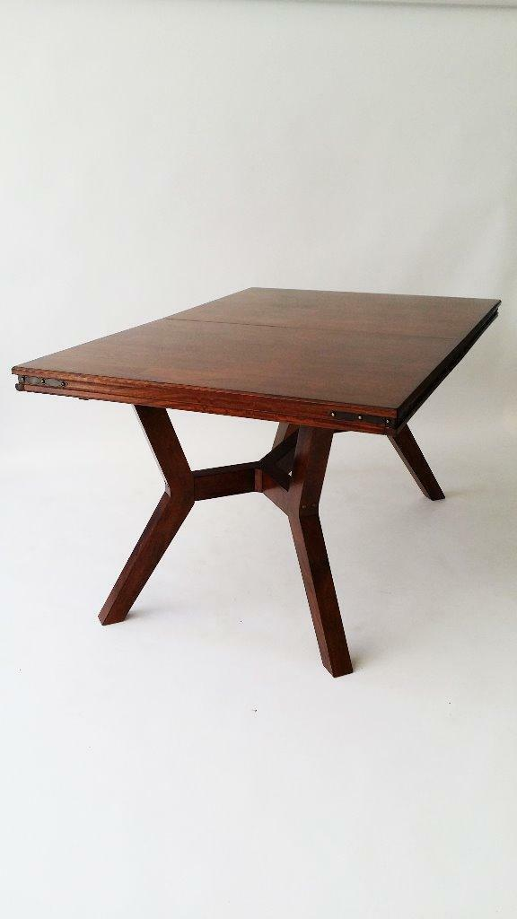 High quality beautiful dark solid wood extending table for for Quality wood dining tables