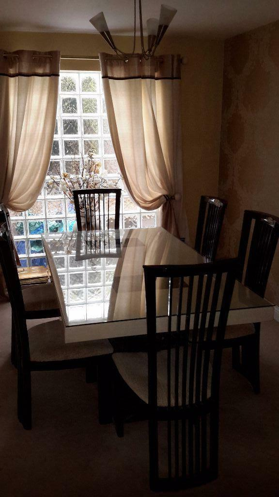 Housing Units Marble Dining Table And 6 Chairs United Kingdom Gumtree