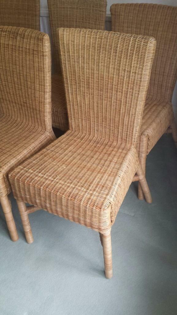 Ikea lovely rattan dining chairs 10 available united kingdom gumtree - Wicker dining chairs ikea ...