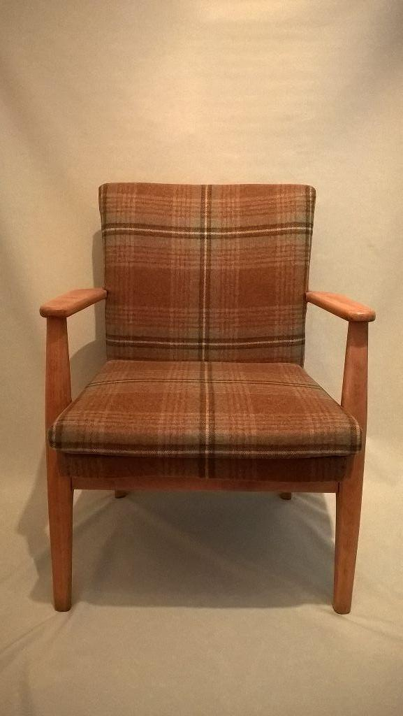 Parker Knoll Chair Model 733 In Moon Fabric 100 Wool