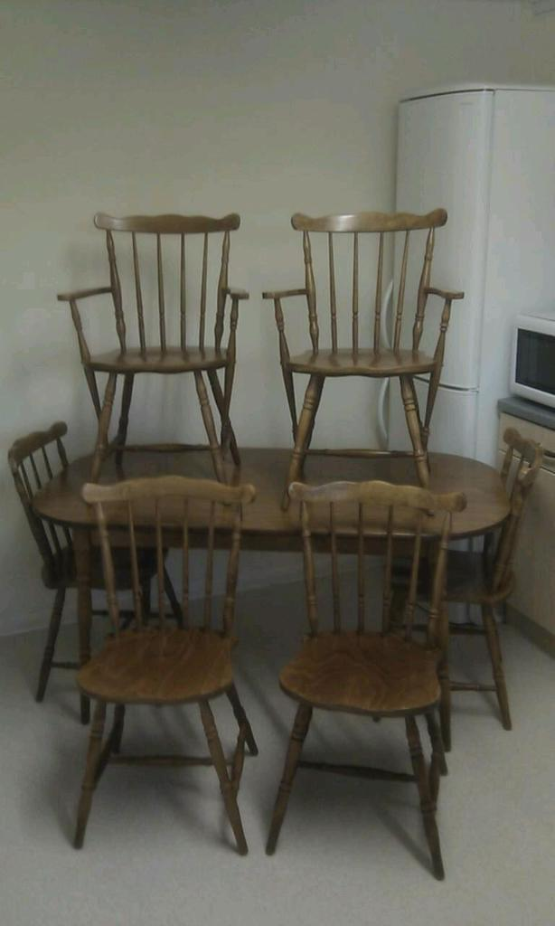 table and six chairs united kingdom gumtree