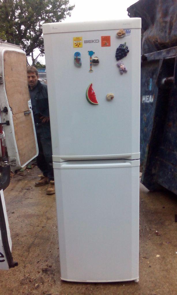 small half fridge half freezer images