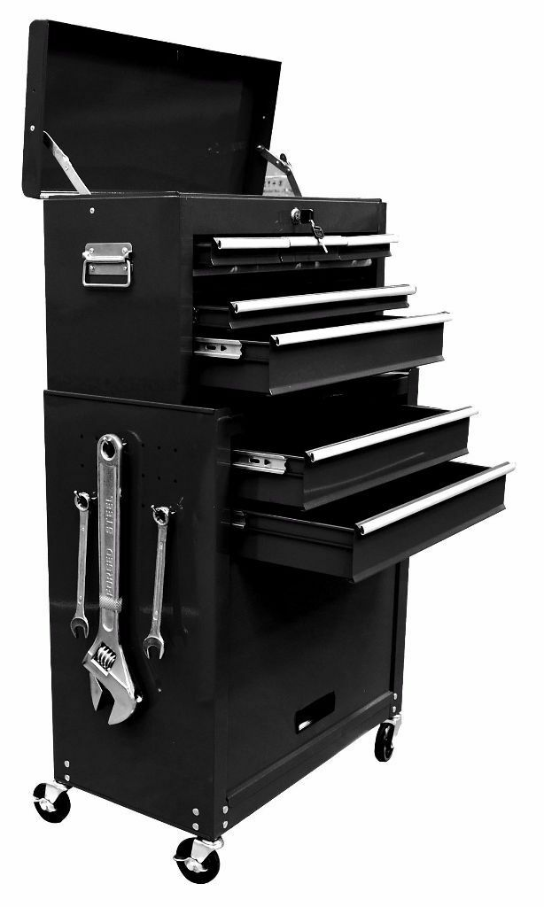 Large Tool Chest Top Cabinet Top Box And Rollcab Box us Ball Bearing Slides 8 Drawer Tool Box Chest