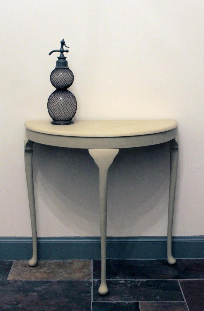 grey half moon table images