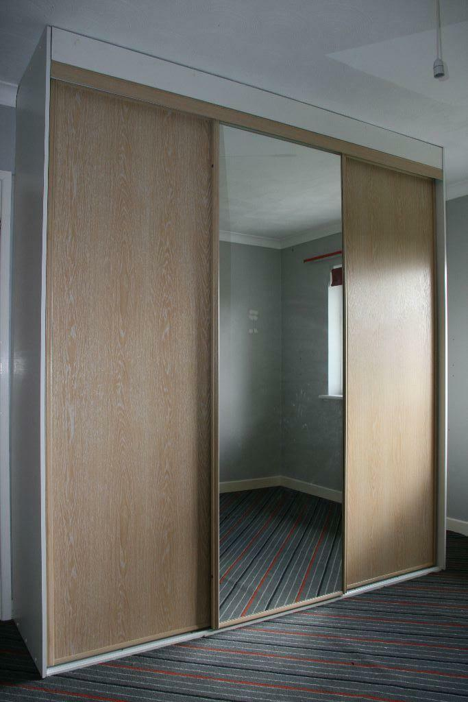 3 wardrobe sliding doors with tracks spacers and for Sliding glass doors gumtree