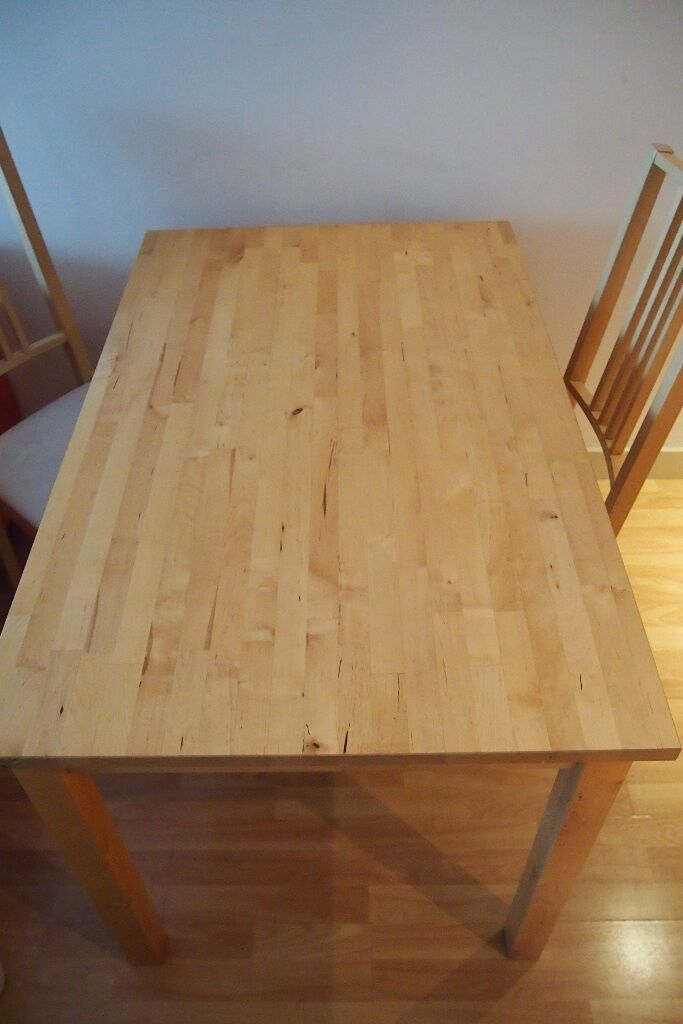 IKEA Dining Table Birch Bj Rkudden And 3 Chairs B RJE Birch For Sale IKEA