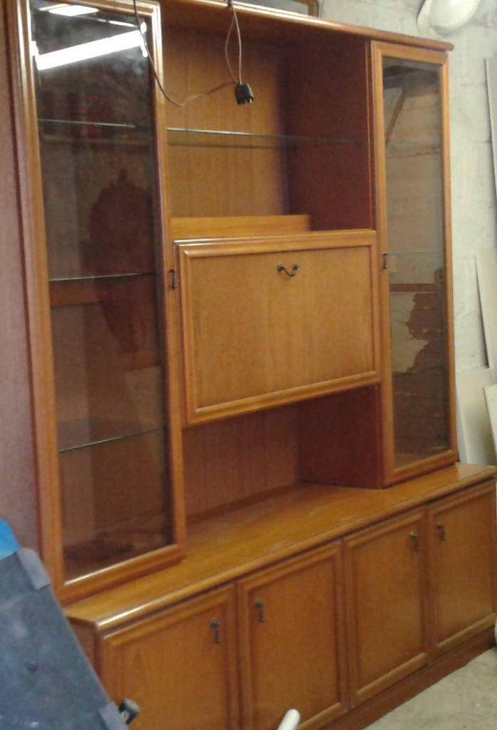 Large Wooden Wall Unit Display Cabinet United Kingdom