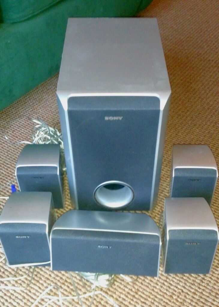 Sony 5 1 Surround Sound Speakers And Subwoofer United
