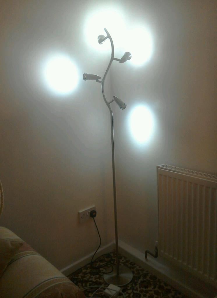 Silver Floor Lamp Living Room : Silver living room floor light lamp united kingdom gumtree