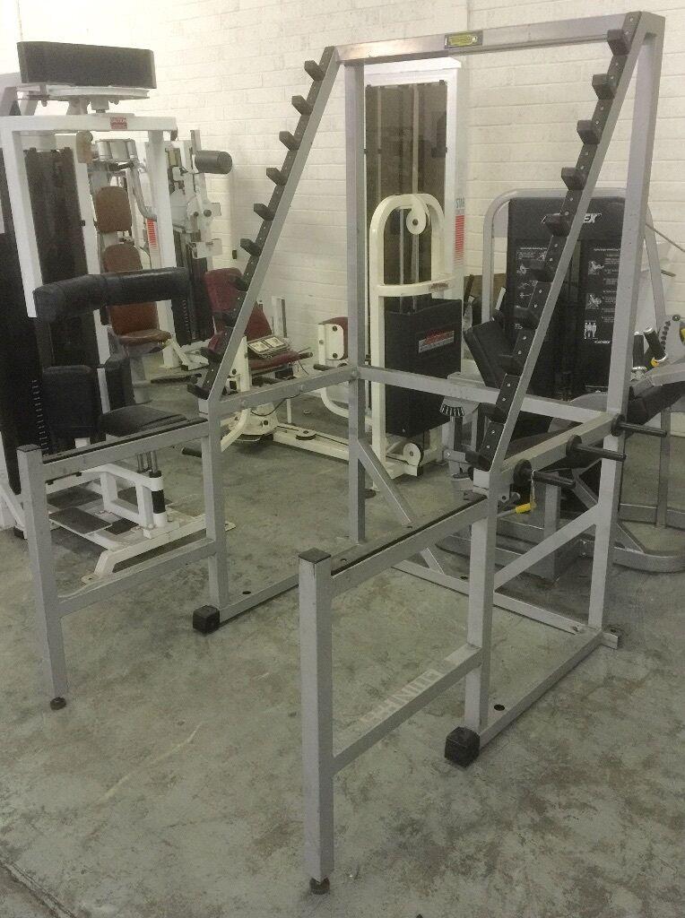 Technogym isotonic squat rack forsale united kingdom