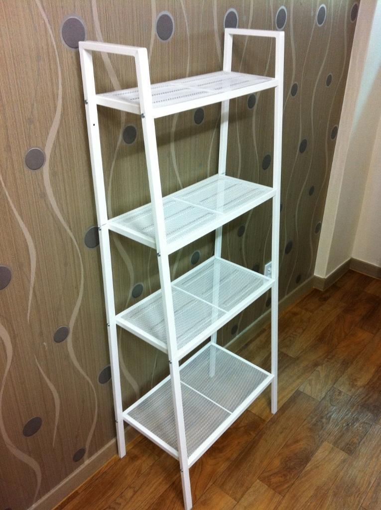 ikea lerberg white metal shelving unit united kingdom. Black Bedroom Furniture Sets. Home Design Ideas