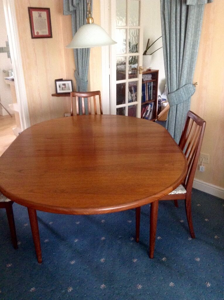 Vintage G Plan teak dining table and 4 chairs United  : 86 from www.gumtree.com size 765 x 1024 jpeg 127kB