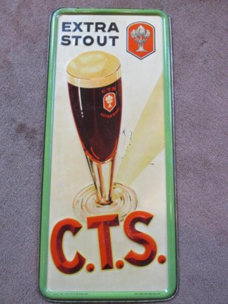 reklame schild bier werbung extra stout c t s in schleswig holstein l beck ebay. Black Bedroom Furniture Sets. Home Design Ideas