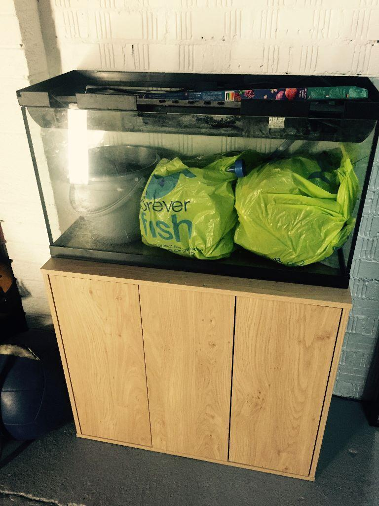 95l Fish Tank Accessories Table And Extra Water Pump