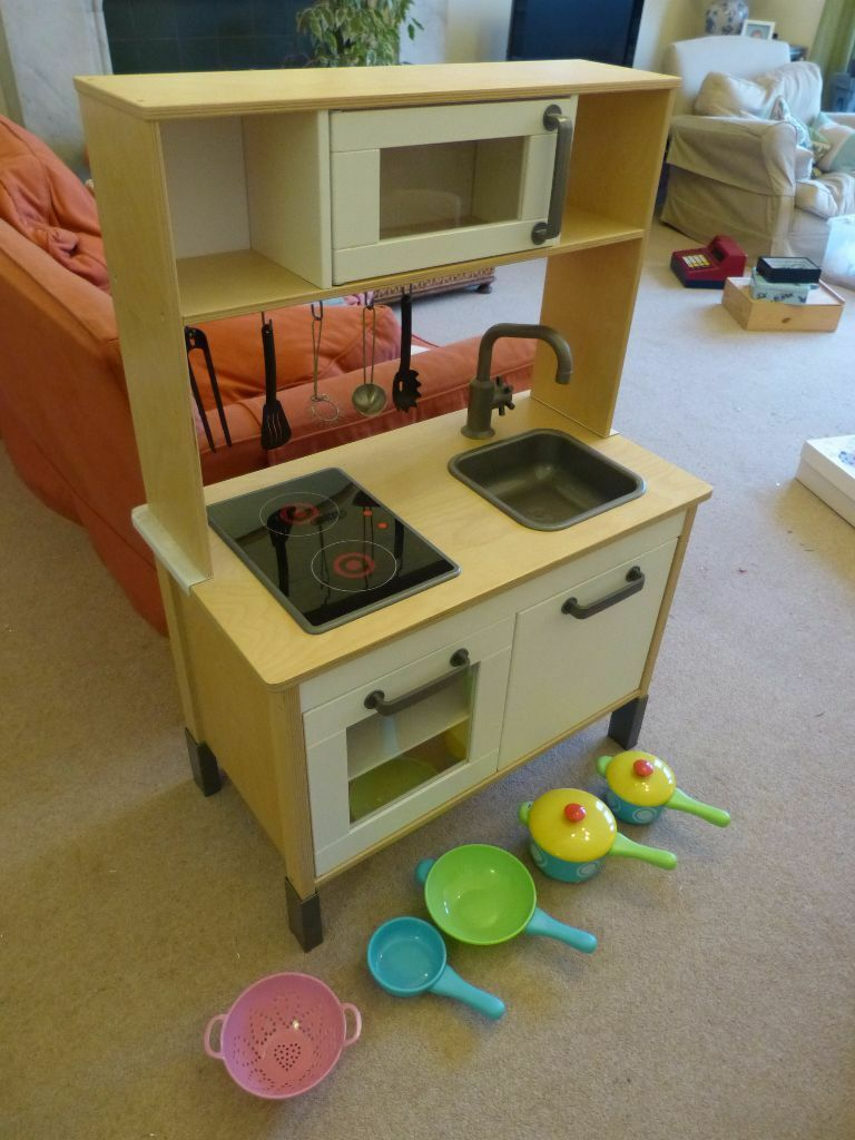 Wooden ikea childrens play kitchen buy or sell find it used - Childrens wooden play kitchen ...