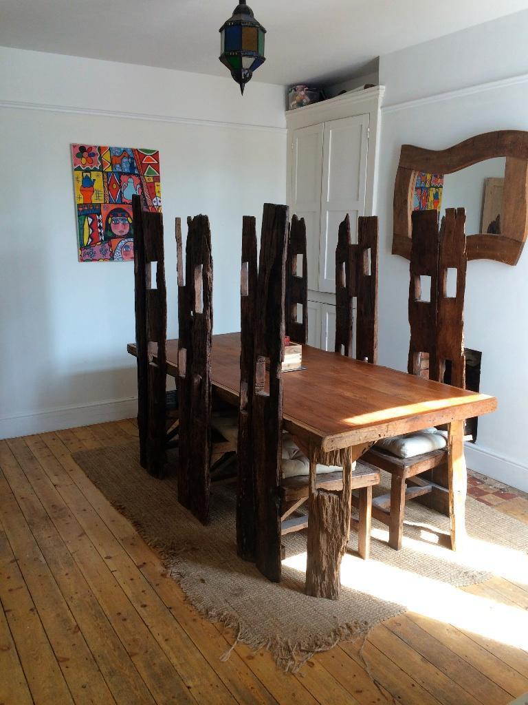 unique dining room table and six chairs united kingdom