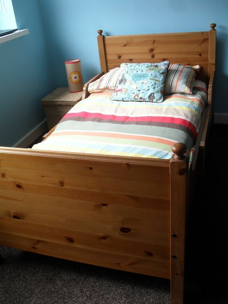 Hemnes Ikea Vitrinenschrank ~ PICK UP WHITLEY BAY  IKEA LEKSVIK TODDLER TO CHILD EXTENDABLE BED