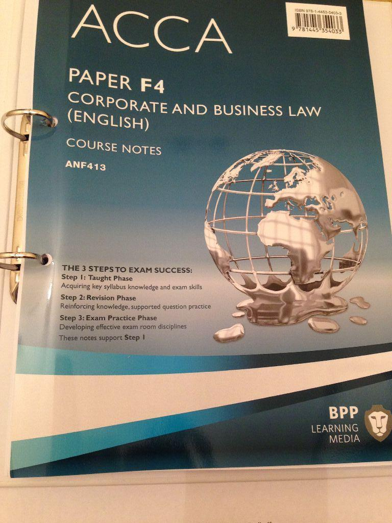 acca f4 law notes 2 Find great deals on ebay for acca book and acca book bpp shop with confidence acca f4 corporate and business law (global): practice and (uk import) book new brand new $2853 acca pocket notes - f2 management accounting 2015-2016 (kaplan) new (other) $1255.