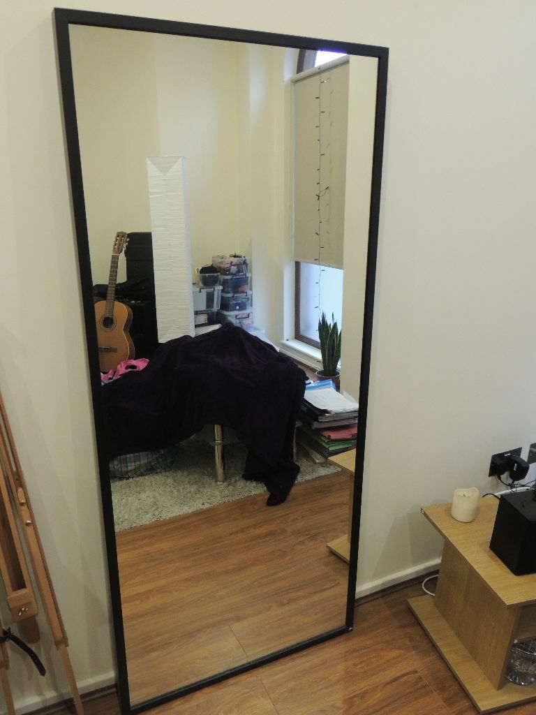 Full length ikea standing mirrordark brown almost new ikea for Miroir 70 x 160