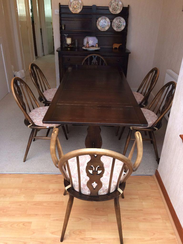 Ercol dining table and 6 chairs Buy sale and trade ads : 86 from dealry.co.uk size 768 x 1024 jpeg 99kB
