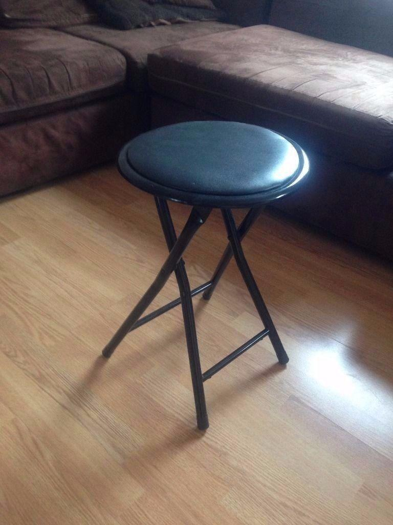 Round Folding Stool Seat Soft Padded Foldable Chair