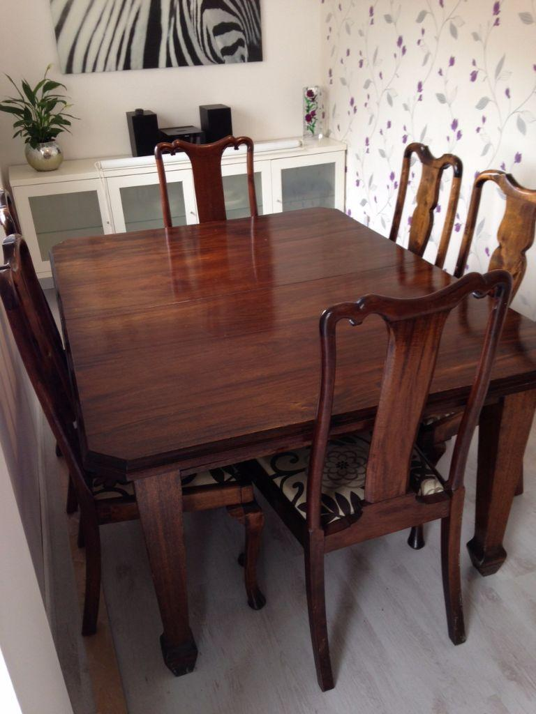 solid wood extending table and chairs united kingdom gumtree