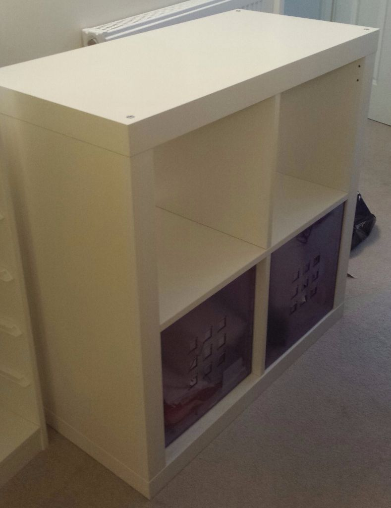 ikea kallax white storage unit buy sale and trade ads. Black Bedroom Furniture Sets. Home Design Ideas