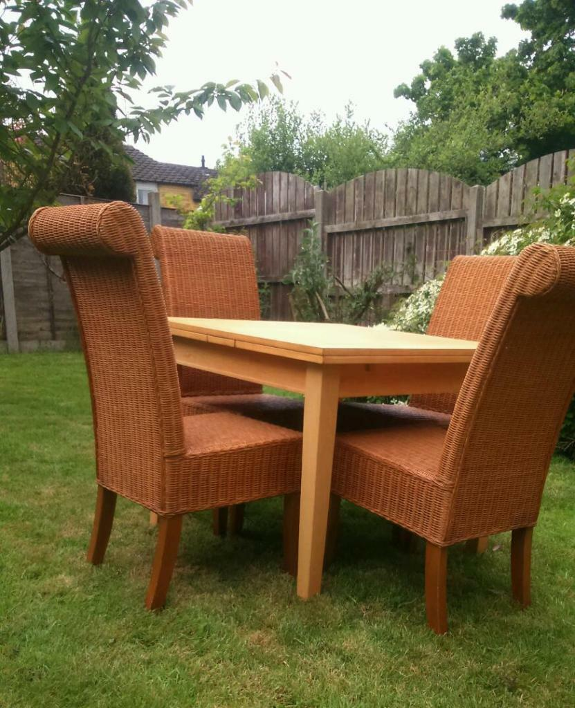 4 Next Wicker chairs with Habitat dining table United  : 86 from www.gumtree.com size 831 x 1024 jpeg 133kB