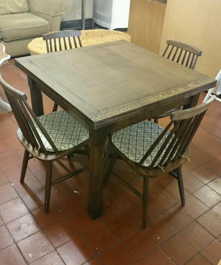 solid dark oak dining table and chairs united kingdom