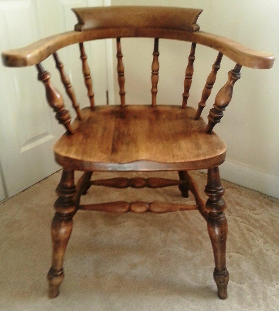 Antique solid oak captains chair now reduced in price united