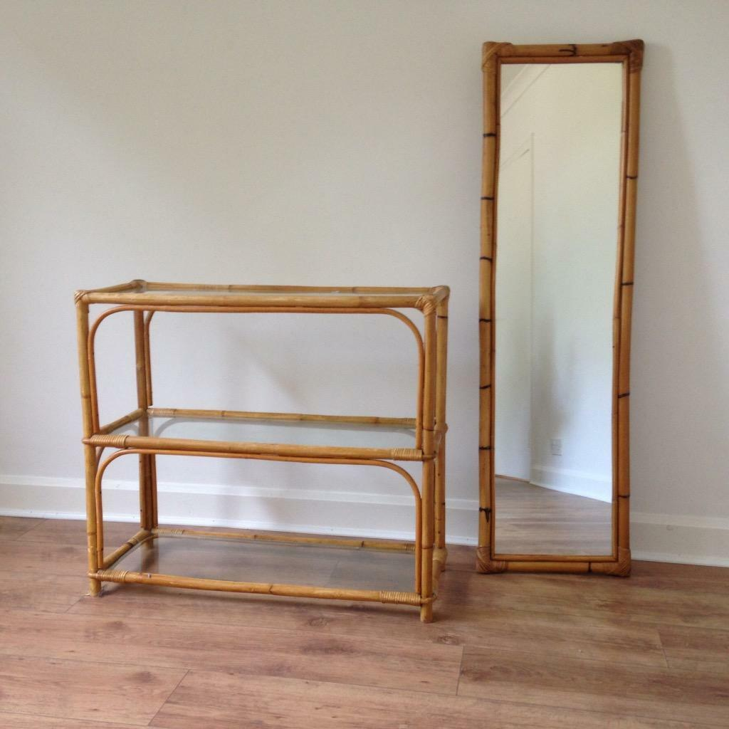 bamboo and glass table and mirror united kingdom gumtree