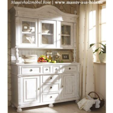 buffetschrank landhausstil wei shabby neu massiv holz. Black Bedroom Furniture Sets. Home Design Ideas