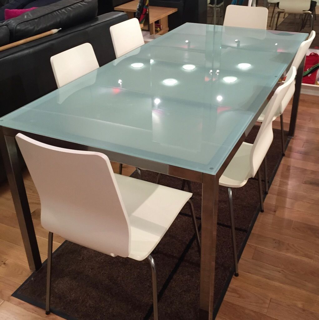 ikea frosted glass dining table design ideas