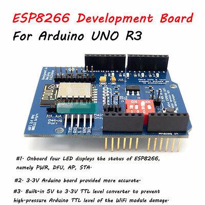 UART WIFI Wireless Shield Development Board ESP-12E ESP8266 For Arduino UNO R3