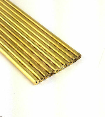 "DRAWN BRASS TUBES .0620 OD X .015 ID X 16""L (LOT OF 10)"