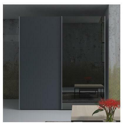 Quick sale dwell loft two door sliding wardrobe grey for Sliding glass doors gumtree