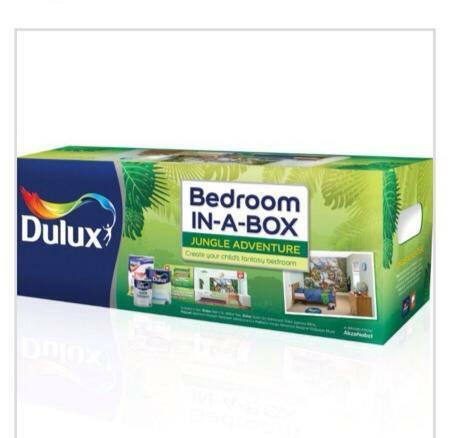 dulux bedroom in a box wall murral jungle adventure united kingdom