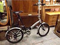 APOLLO TRANSITION FOLDING ALUMINIUM BIKE WITH LOCK, BELL & LIGHTS - AS NEW Perfect Christmas Present