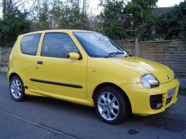 Fiat Seicento Sporting Yellow Fiat Seicento 1.1 Sporting